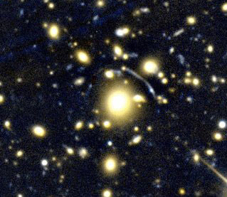 Telescope image of Abell 383