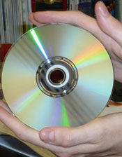Photograph of a DVD