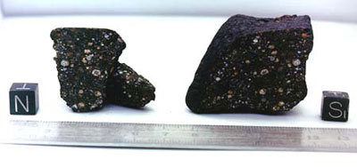 Photo of the CR2 Grave Nunataks (GRA) 95229 meteorite