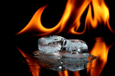Photo of ice and fire