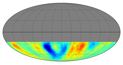 Map of cosmic rays from the southern sky