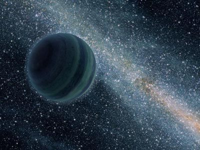 Artist's impression of an unbound planet