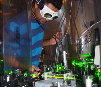 Photo of the laser system used to measure the electron EDM