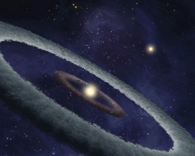 An artist's impression of planet formation