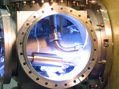 Photograph of part of the ALPHA experiment at CERN