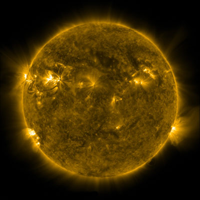 Image of the Sun's corona obtained by NASA's SDO mission
