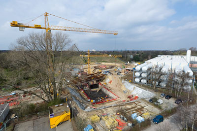 Construction site of the European X-ray Free Electron Laser