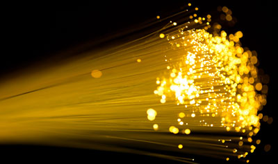 Photograph of an optical fibre