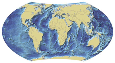 Ocean bathymetry map