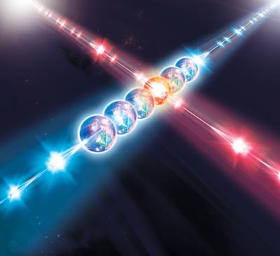 Artist's impression of the quantum simulator