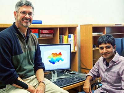Photograph of Roger Bonnecaze (left) and Parag Katira