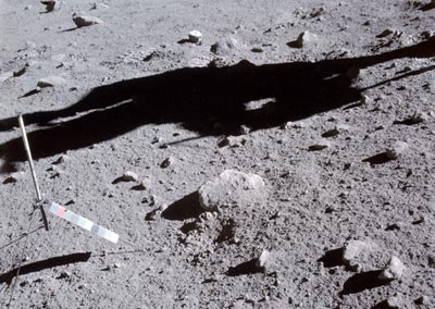 A lunar sampling sites from the Apollo 16 mission