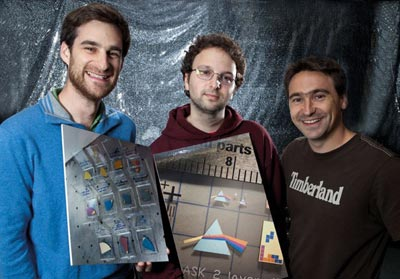 Photograph of some of the Harvard researchers and the images they have made