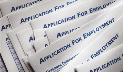 Photograph of job applications