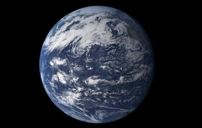 A NASA image of the Earth