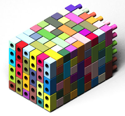 A cuboid made from the new DNA bricks