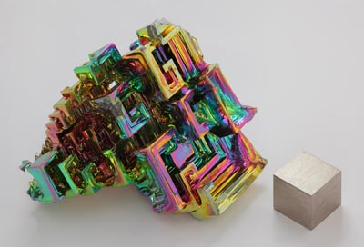 Photo of a bismuth crystal