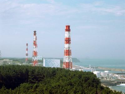 A photograph of the Fukushima Daiichi power plant