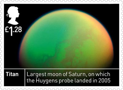 Royal Mail stamp showing Titan