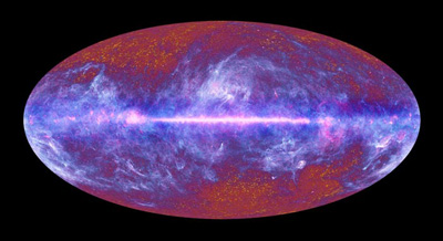 Image of the microwave sky as seen by the Planck mission