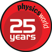 Logo of Physics World's 25th anniversary in 2013