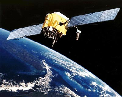Artist's impression of a GPS satellite
