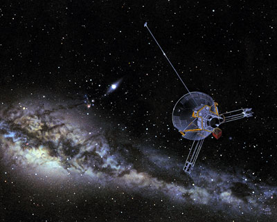 Artist's impression of the Pioneer 10 spacecraft