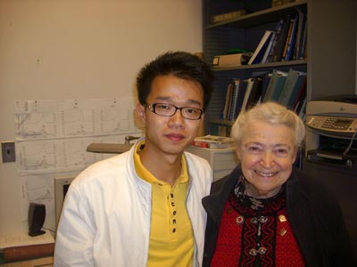 Photograph of Shuang Tang and Mildred Dresselhaus
