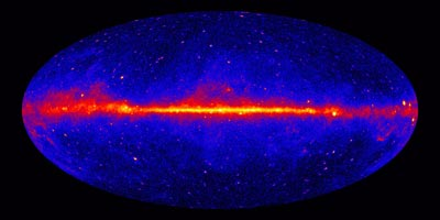 Image of the gamma-ray sky taken by the Fermi Large Area Telescope