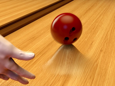 Illustration of how a surface made from a metamaterial with negative compressibility would respond to the weight of a bowling ball