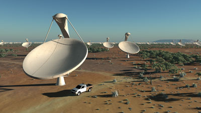 An artist's impression of the telescope array