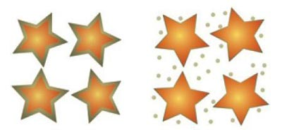 Diagram showing silver-coated gold nanostars