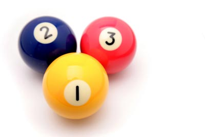 Photo of three pool balls