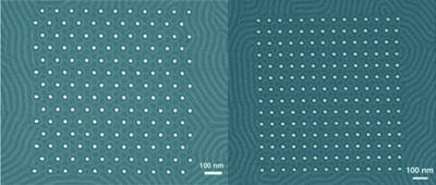 Nanoscale square and hexagonal arrays