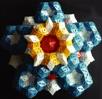 Image of a 3D icosahedral quasicrystal