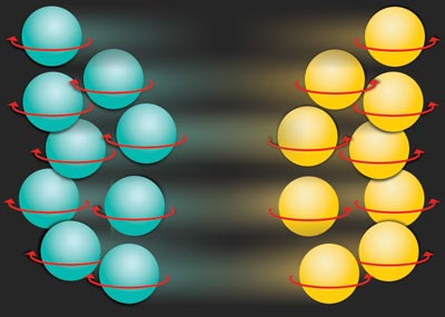 Artist's impression of the spin diode created by MIT physicists