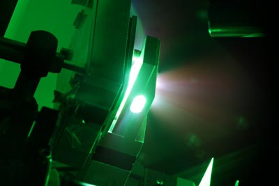 An image of the TRIDENT laser