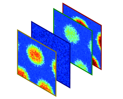 Series of images showing how frequency combs can be used to perform Raman spectroscopy