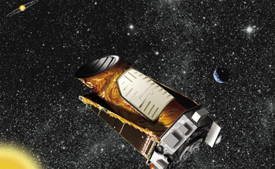 Artist's impression of the Kepler mission in Earth orbit