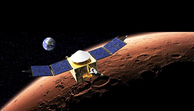 Artist's concept of the MAVEN spacecraft