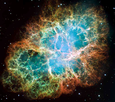 Image of the Crab Nebula taken by the Hubble Space Telescope