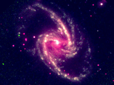 Composite X-ray image of the galaxy NGC1365