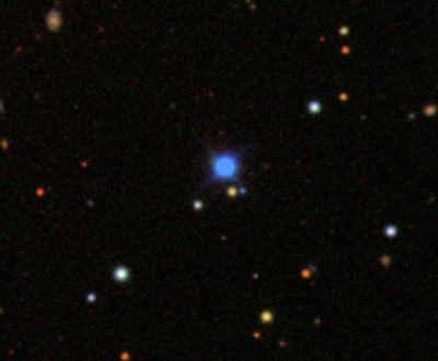 Telescope image of the white dwarf Giclas 29-38