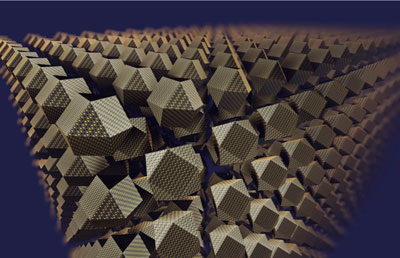 An artist's impression of a superlattice