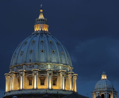 The dome of St Peter's Basilica is ideal for use as a planetarium