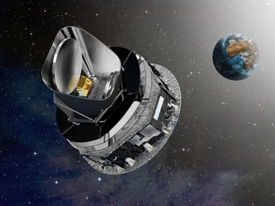 Artist's impression of the Planck space telescope
