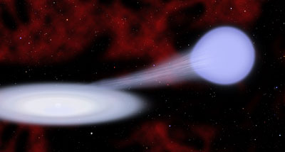 Artist's illustration of the new kind of supernova called Type Iax