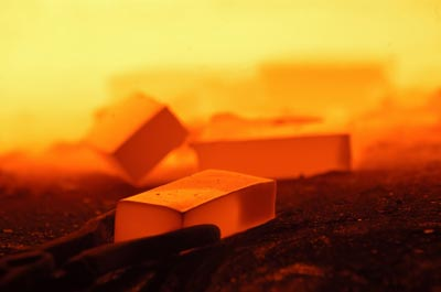 Photograph of some hot metal