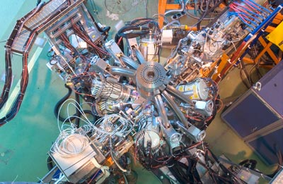 Photo of the MINIBALL gamma-ray spectrometer