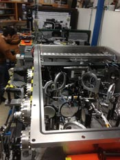 Photograph of the set-up used to create positron beams at the University of Michigan